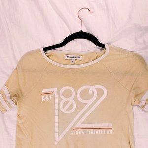 •yellow abercrombie & fitch tee